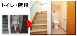 豊能町I邸 全面改装 階段トイレ