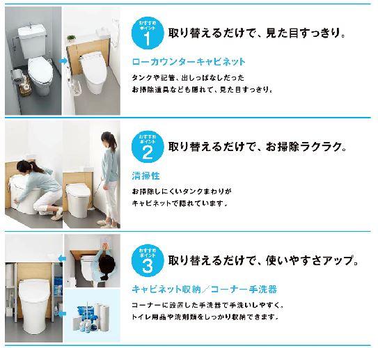 キャビネット型トイレ リクシル・リフォレ