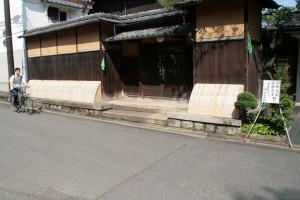 京都らしい家並みです